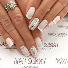Exquisite Pastel Color Nails To Freshen Up Your Look: Milky White Pastel Colors Wedding Gel Nails, Bride Nails, Wedding Nails Design, Pastel Color Nails, Nail Colors, Pastel Colors, Pastel Shades, One Color Nails, Trendy Nails