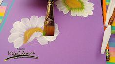Como pintar margaritas en pinceladas con Miguel Rincón