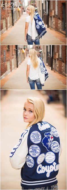 Kacey D Photography - Senior Photographer Columbia, MO - Letterman Jackets in Senior Pictures