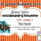 Use as a vocabulary resource to teach amazing words using the Reading Street curriculum 5th grade TEKS aligned  I also added an activity to go alon...