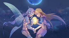 Zoe con su espíritu Digimon.