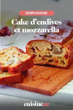 Ce cake salé avec de l'endive et de la mozzarella est parfait pour l'apéritif. #recette#cuisine#cake #endive #mozzarella#patisseriesale #aperitif #apero Mozzarella, Ale, Parfait, Sandwiches, Food, Salty Cake, Greedy People, Ale Beer, Essen