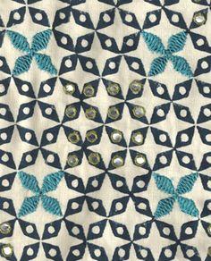 Mahalaxmi in Mughal Blue by seemakrish.  Hand block print & hand embroidery