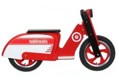 Kiddimoto Red & White Scooter Balance Bike