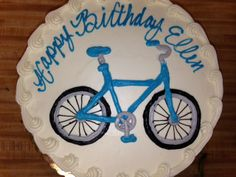 #1207 Bicycle Cake Happy Birthday Bicycle, Bicycle Cake, Bakery, Party, Desserts, Food, Tailgate Desserts, Deserts, Essen
