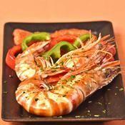 Gambas à la plancha aux poivrons et aux herbes - une recette Crustacé - Cuisine