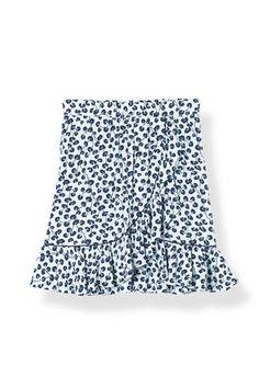 Emory Crepe Skirt, Pearl Blue