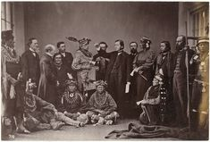 Sauk & Fox and Kaw Delegation - 1867 | www.American-Tribes.com