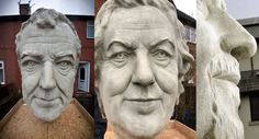 Giant Sculptures Of Clarkson's Hammond's And May's Heads Appear In UK Homes