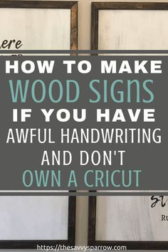 Cheap and Easy DIY Farmhouse Wood Signs - A Step-by-Step DIY Tutorial!, Diy And Crafts, Learn how to make farmhouse wood signs with words on a budget! No stencil needed! These easy diy wood signs are made with sharpie makers! Diy Wood Projects, Diy Projects To Try, Woodworking Projects, Woodworking Plans, Dremel Tool Projects, Spring Projects, Vinyl Projects, Cricut, Diy Wood Signs
