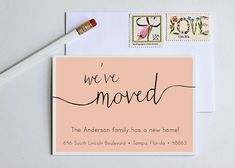 Moving Announcement  Change of Address  New Home  by TheYellowNote