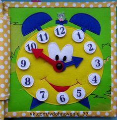 Cutest clock ... Great for teaching time