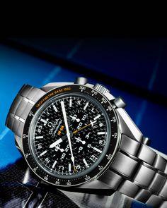 Montres OMEGA : Speedmaster HB-SIA Chronographe Co-Axial GMT Édition numérotée 44,25mm - Titane sur titane - 321.90.44.52.01.001
