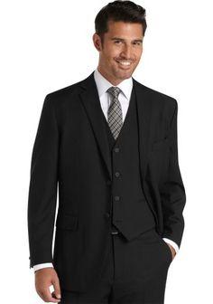 For wedding, Suits - Wilke Rodriguez Black Stripe Vested Modern Fit Suit - Men's Wearhouse