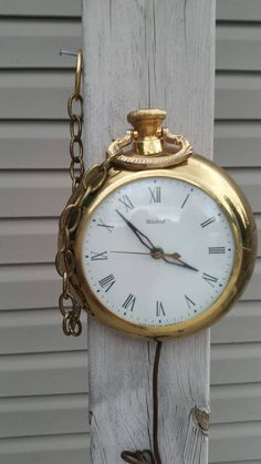 Check out this item in my Etsy shop https://www.etsy.com/listing/244849056/vintage-pocket-watch-hanging-wall-clock