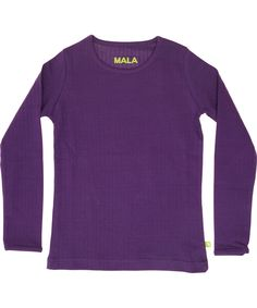 Mala basis paarse t-shirt in geribde katoen. mala.nl.emilea.be