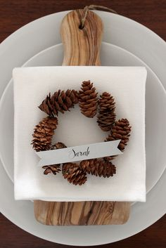 Fabric Paper Glue for Oh So Beautiful Paper | DIY Pinecone Wreath Placeholders by fabricpaperglue, via Flickr