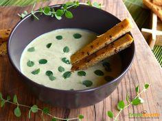 Crema verde con farinata di piselli e semi di lino  #ricette #food #recipes