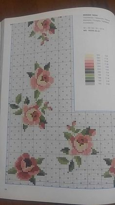Cross Stitch Rose, Bargello, Table Covers, Cross Stitch Patterns, Crossstitch, Alphabet, Country, Tablecloths, Cross Stitch Embroidery