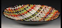 Woven Glass Bowl - Glassboxguy studios. artists mark lewanski and aaron tomac