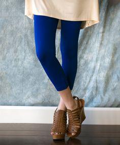Love this Sawyer Cove Royal Blue Capri Leggings - Women by Sawyer Cove on #zulily! #zulilyfinds