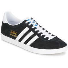 new product d5590 7c1d3 Baskets basses Adidas Originals GAZELLE OG Noir   Blanc   Or