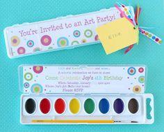 art party invitations.
