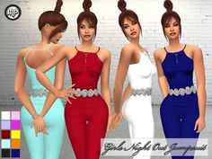 Marty P: MP Girls Night Out Jumpsuit • Sims 4 Downloads