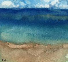 To the Ocean - archival print of original watercolor painting. $12.00, via Etsy. simple, nice.