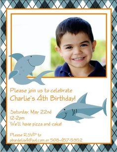 Shark birthday card by Dulcepress on Etsy, $1.25