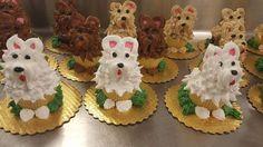 Puppy Cupcakes Cake Decorating Designs, Cake Designs, Decorating Tips, Puppy Cupcakes, Cute Cupcakes, Cupcake Cupcake, Cupcake Ideas, Mini Cakes, Cup Cakes