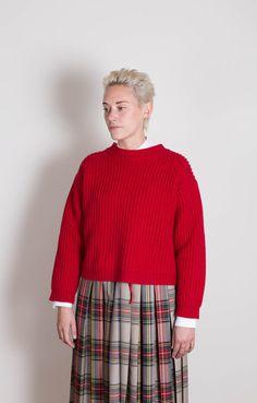 Maestro Crew Neck Sweater Red
