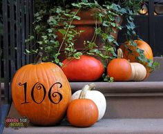 Custom House Number Decals for Your Pumpkin
