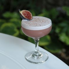 Fig-Pomegranate Sour 1 1/2 ounces of Mahia 1 1/2 ounces of pomegranate juice 1/4 ounce of freshly squeezed lemon juice 1/2 ounce of honey syrup egg white dash of orange bitters dash of Angostura bitters Garnish with 1/2 a fig and a fresh grating of cinnamon