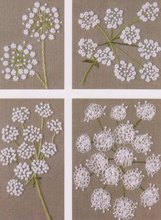How'd they do that?  Hand embroidery flowers and/or snowflakes for a Victorian Crazy quilt. [No.22 PDF Pattern of How to do Flower Hand by DIYPATTERNSHOP]