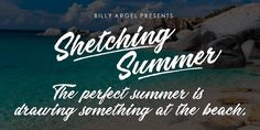 Sketching Summer font you can #download #free on #freebiesteam #webresource #inspiration #summer #amazing #created #collection #font