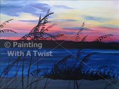 Weekend winedown sea oats sunset charlotte nc painting for Painting with a twist charlotte nc