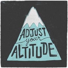 Theme of the week, approaching projects from a higher level, and it's time to go on a hill climbing adventure. #cycling #altitude #typography