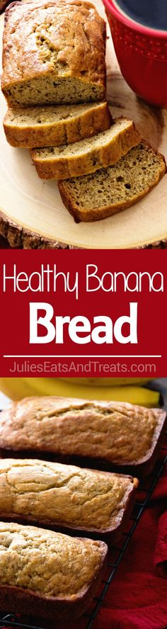 Healthy Banana Bread Recipe ~ Delicious Mini Banana Bread Loaves that are Lightened Up with Coconut Oil, Whole Wheat Flour and Truvia! Moist, Easy and Delicious Banana Bread! ~ @TruviaBrand