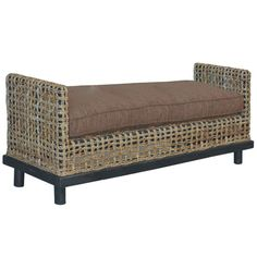 Dimitrio Abaca Rope Double Bench Jeffan Benches Accent & Storage Benches Accent Furniture