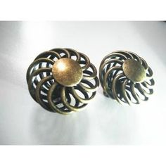 Poignée - Bouton Meuble Bronze cage ronde bouton de tiroir 47mm