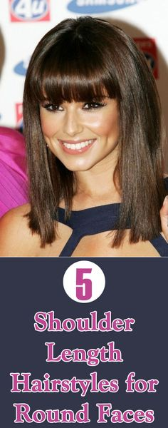 Shoulder Length Hairstyles for Round Faces