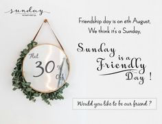 And, 30% off, indeed Sunday is friendly. #SundayTheSpa #friendshipDay #beOurFriend #specialGift