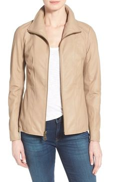 Marc New York Lambskin Leather Jacket (Online Only) available at #Nordstrom