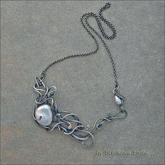 Strukova Elena - авторские украшения - Серебряное ожерелье с жемчугом