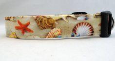 Awesome Seashells Starfish and Sand Dog Collar Sea Dog Collar.  Beach Time!