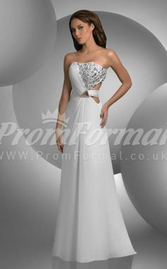 Luxurious Chiffon white long prom dresses,white prom dresses