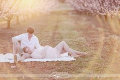 A Blooming Peach Orchard Maternity Session | images by Simply bloom Photography