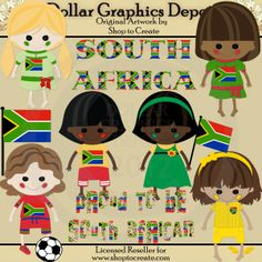 South African Dolls - Clip Art - $1.00 : Dollar Graphics Depot, Quality Graphics ~ Discount Prices