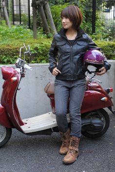 男性が選ぶ 女性ライダー ファッション コーディネート バイク女子